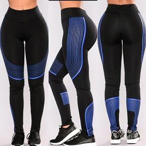 Pants - NWT Blue Black Leggings